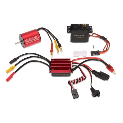 GoolRC S2430 7200KV Brushless Motor 25A ESC 2.2kg Metal Gear Servo Combo Set for 1/16 1/18 RC Car