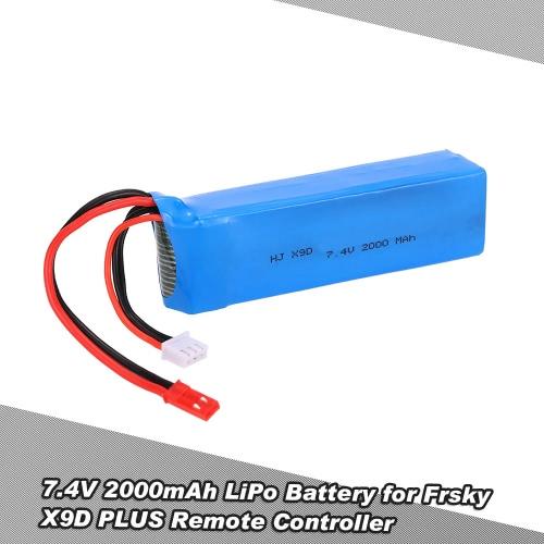 7.4V 2000mAh LiPo Battery for Frsky Taranis X9D PLUS Remote Controller RC Transmitter