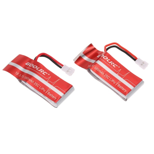 2szt GoolRC 3.7V 380mAh 25C LiPo Battery for MJX X916H X906T FPV Quadcopter