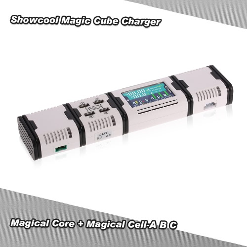 Original Showcool Magic Cube Charger 100W 10A Magical Core with 50W 5A Magical Cell-A for 2-6S Balance Port LiPo LiFe LiHv Battery