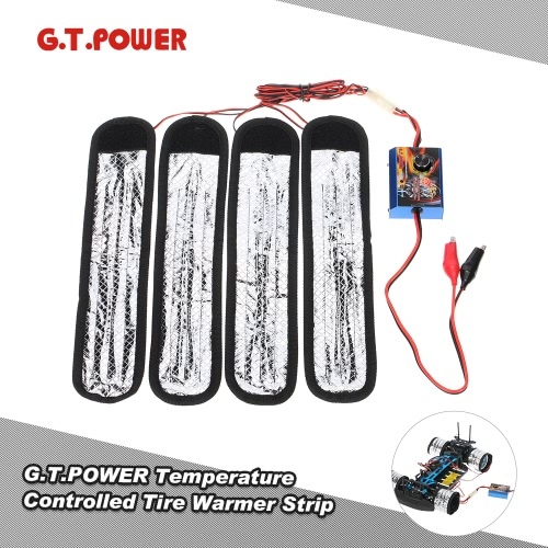 G.T.POWER 30-80℃ Temperature Controlled Tire Warmer Strip Heater for 1/10 Touring Car Pre-heat Rubber Tires