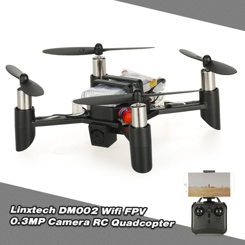 Linxtech DM002(WH) Wifi FPV 0.3MP Camera DIY Mini RC Quadcopter with Altitude Hold Function (Kit Version)