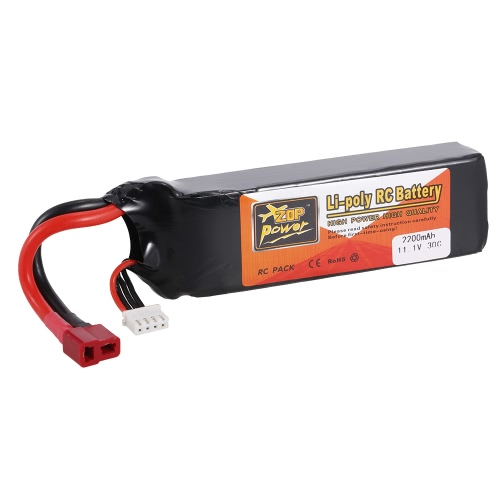 ZOP Power 11.1V 3S 2200mAh 30C Li-po Batterie avec T Plug pour RC Drone Quadcopter Car Boat Airplane 450 Helicopter