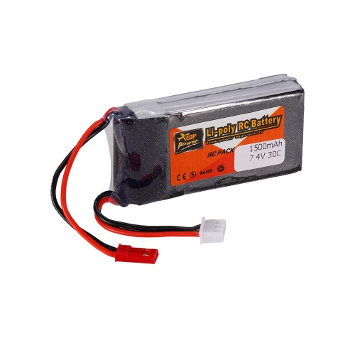 ZOP Power 2S 7.4V 1500mAh 30C LiPo Battery JST Plug