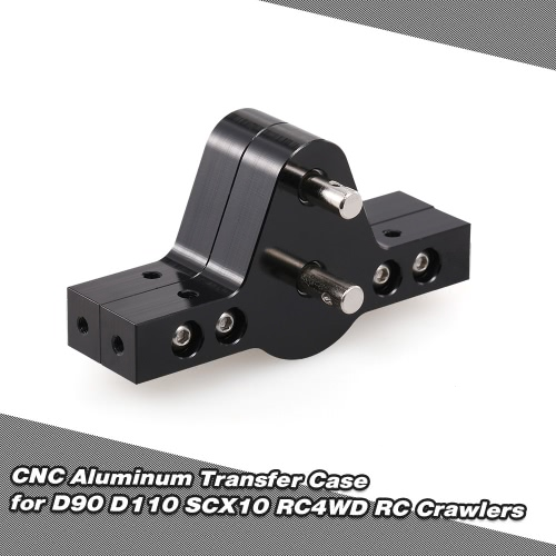 CNC Aluminum Transfer Case for D90 D110 SCX10 RC4WD RC Crawler Trucks