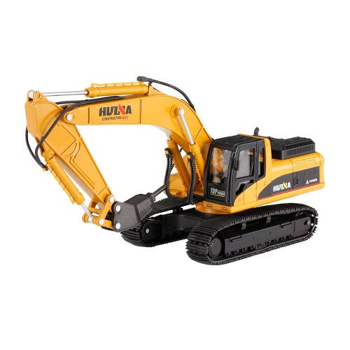 HUI NA TOYS 1911 1/40 Alloy Drill Excavator Engineering Vehicle Car Kids Toy Gift Housing Decoration Collection