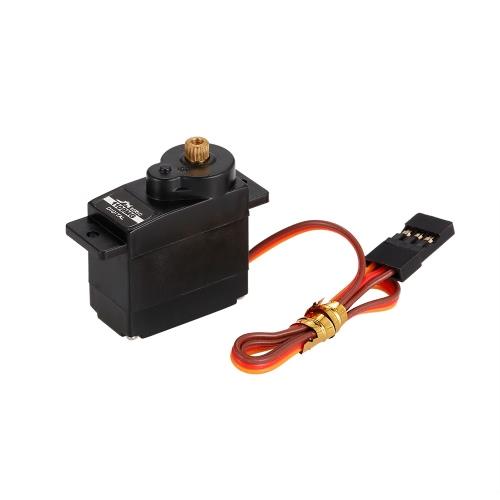 JX PDI-1109MG 4.8V-6V高電圧0.10秒/ 60°2.5kgデジタルメタルギアミニサーボアルミケース(1:18 RCカー用)
