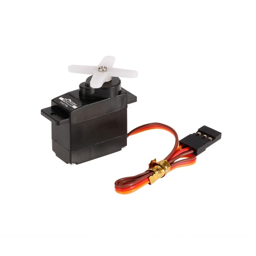 JX PDI-1109MG 4.8V-6V High-Voltage 0.10sec / 60 ° 2.5kg Digital Metal Gear Mini Servo Alumínio Case para 1:18 RC Car