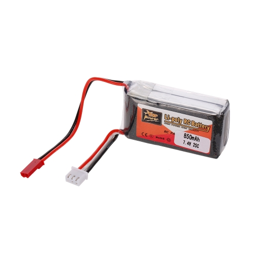 ZOP POWER 2S 7.4V 850mAh 25C JST Plug LiPo Battery for Rodeo 110 120 150 Racing Drone RC Quadcopter Car Boat