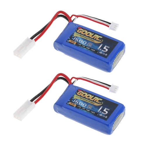 2 sztuki GoolRC 7.4V 1500mAh 30C Mini TAMIYA Wtyczka LiPo Bateria