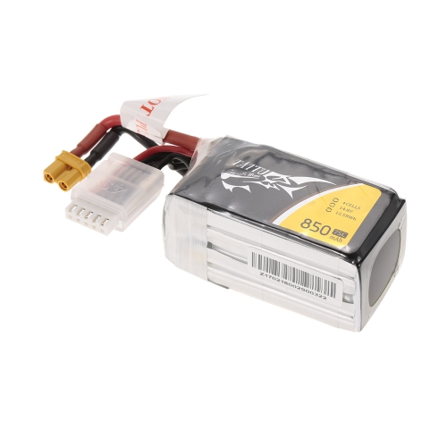 ACE TATTU 850mAh 14.8V 75C 4S1P 4S Lipo Battery with XT30 Connector Plug for FPV Racing Drone