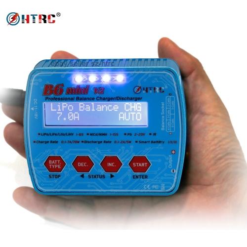 HTRC B6 Mini V2 70W 7A Digital Pocket bilanciatore caricabatterie scarica per RC Drone Lipo Li-Ion NiCH NiMH batteria
