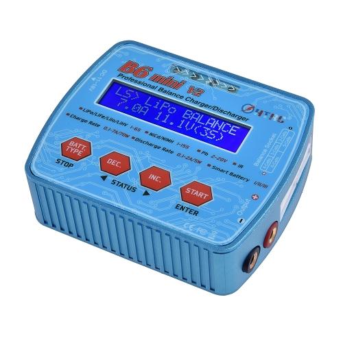 HTRC B6 Mini V2 70 W 7A Numérique Batterie Chargeur D'équilibre Chargeur Discharger pour RC Drone Lipo Li-ion NiCd NiMH Batterie