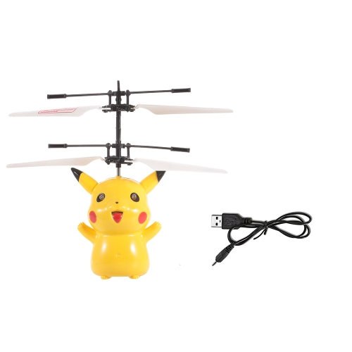 JY8190 Pokemon Pikachu Figure Infrared Controlled Hand Control Floating RC Quadcopter RC Toy