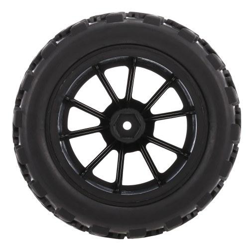 4PCS 1/10 RC tout-terrain pneu longueur bloc bande de roulement motif 10 rayons Rim pour 1/10 HSP HPI Redcat RC4WD RC Monster Truck