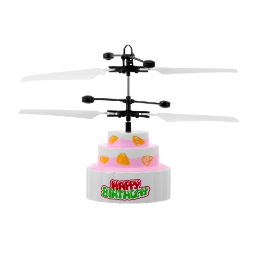 8018 Birthday Cake Music Helicopter Aircraft Infrared Hand Control Floating RC Drone