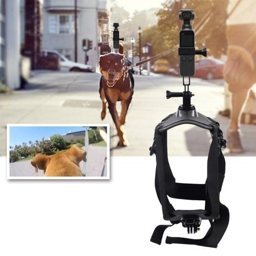 STARTRC Pets Dog Harness Mount Ajustable Correa para el pecho Fotografía y video para la cámara de acción Insta360 ONE X / EVO