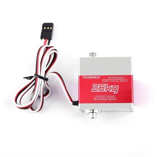 Engrenagem alta do metal do torque do servo de RHS8025S 25KG Digitas