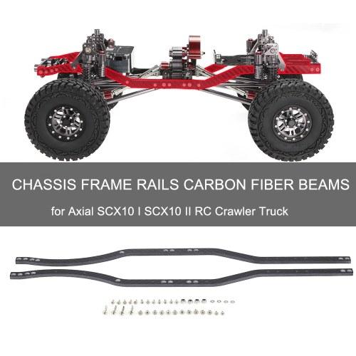 Guide telaio telaio Travi in fibra di carbonio per camion cingolato auto assiali SCX10 I SCX10 II RC