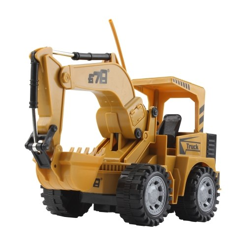 1:24 5CH Remote Control Electric Excavator Construction Car Toy Image