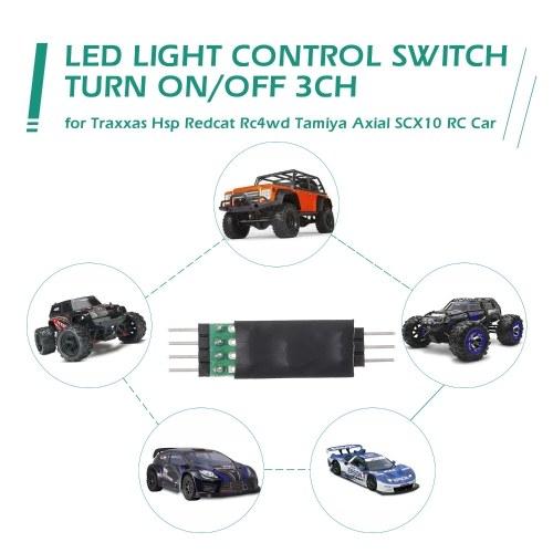 LED Lampe Lichtschalter Panel System Ein- / Ausschalten 3CH für Traxxas Hsp Redcat RC4WD Tamiya Axial scx10 D90 RC Auto Fahrzeug