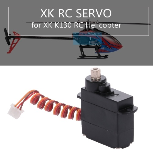 RC Helicopter Servo Metal Gear K130 Servo RC Part para XK K130 RC Helicopter