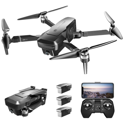 VISUO ZEN K1 5G WIFI FPV GPS Brushless Drone With 4K HD Dual Camera(3 Batteries)