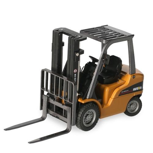HUINA 1717 Forklift Model 1/50 Metal Fork Truck Engineering Car Vehicle Construction Gift for Kids Boys