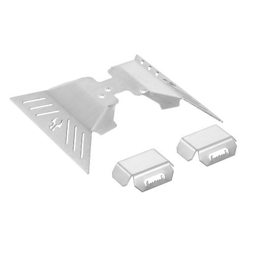 Piastra paramotore di protezione dell'asse in acciaio inossidabile compatibile con RC Crawler Axial Capra 1.9 UTB AXI03004 Parti di aggiornamento