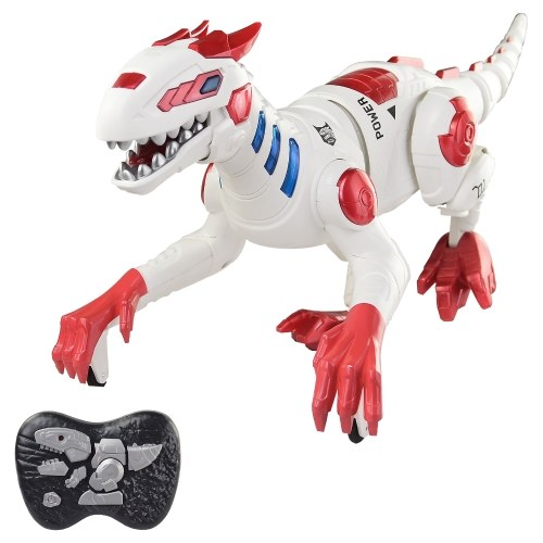 2.4Ghz Simulated Walking 4 Channel Mechanical Dinosaur Toy with Light and Sound