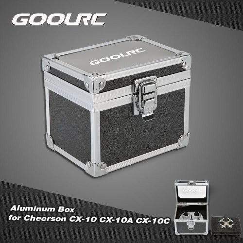 GoolRC Aluminum Box Carrying Case for Cheerson CX-10 CX-10A CX-10C CX-10W RC Quadcopter