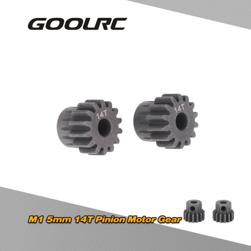 GoolRC 2Pcs M1 5mm 14T Pinion Motor Gear for 1/8 RC Car Brushed Brushless Motor