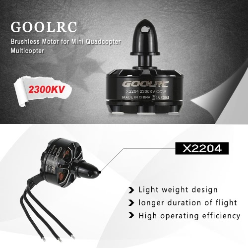 GoolRC X 2204 2300KV CCW motore Brushless per QAV250 RC Quadcopter