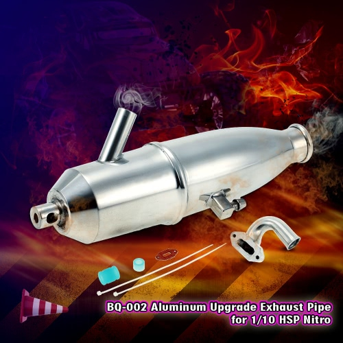 BQ002 Aluminum Upgrade Exhaust Pipe for 1/10 HSP Nitro Car