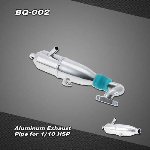 BQ002 aluminiowa rura wydechowa Upgrade do 1/10 HSP Nitro Car