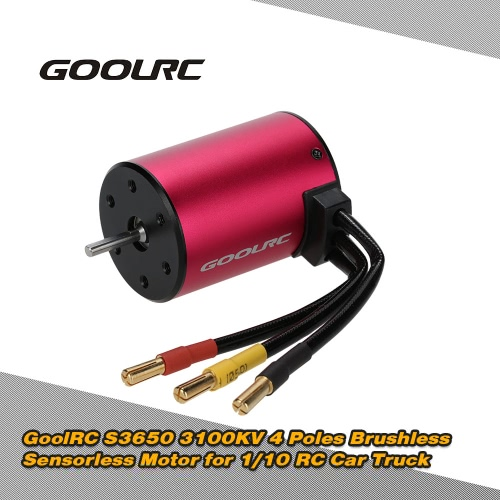 Original GoolRC S3650 3100KV 4 Poles Brushless Sensorless Motor for 1/10 RC Car Truck