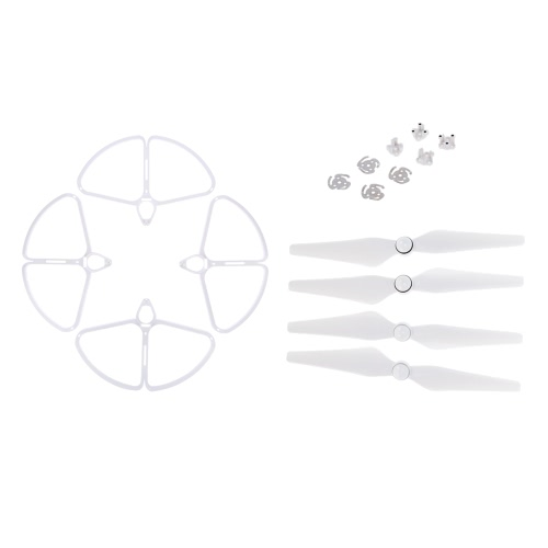 2 Pairs CW/CCW Propeller and 4Pcs Propeller Guard Ring Combo Set for DJI Phantom 4  RC Quadcopter