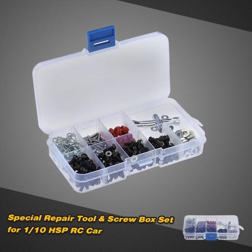 1/10 HSP RCカーのための特別な修復ツール&ネジボックスセット