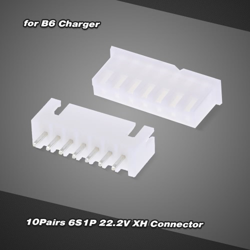 10Pairs 6S1P 22.2V 7Pin XH Male and Female Balance Connector for RC LiPo Battery B6 Charger