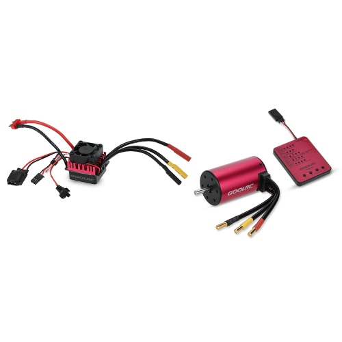 GoolRC S3660 3800KV Sensorless Brushless Motor 60A Brushless ESC e Program Card Combo Set para 1/10 RC Car Truck
