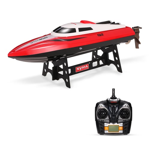 Original Syma Q2 Genius 2.4G 2CH Télécommande 180 ° Flip High Speed RC RC Boat Kids Gifts
