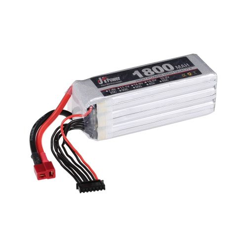 JHpower 22.2V 1800mAh 25C 6S LiPo batterie avec prise T pour SAB380 Helicopter RC Drone Car Boat Airplane