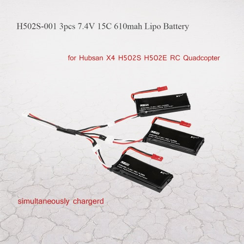 3psc H502S-001 7.4V 610mAh 15C Lipo baterii z 3 w 1 Charge Kabel do Hubsan X4 H502S H502E RC Quadcopter