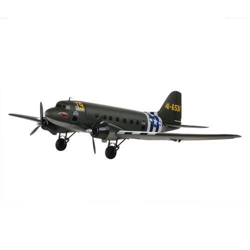 Original Dynam C-47 Skytrain 1470mm Wingspan EPO Fixed-wing Aircraft PNP Version RC Airplane(with ESC, Motor, Servo)
