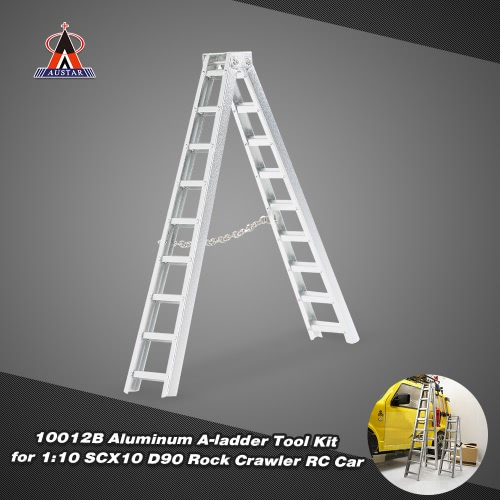 AUSTAR 10012B Aluminum A-ladder RC Car Tool Kit for 1:10 SCX10 D90 RC Car