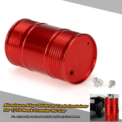 CNC Metal Oil Drum Tank Container for 1/10 RC4WD D90 SCX10 Rock Crawler RC Car