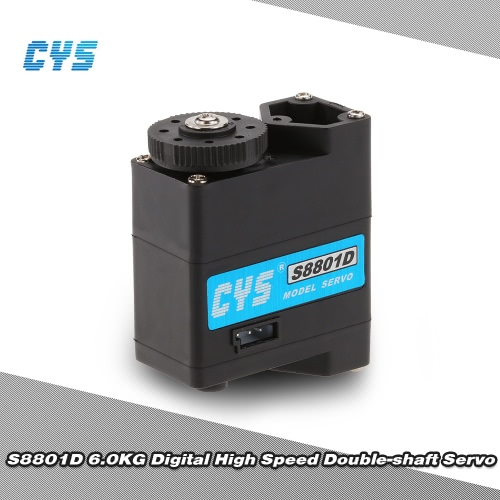 Original CYS S8801D 6kg/0.10sec Digital High speed Double-shaft Servo for RC Robot