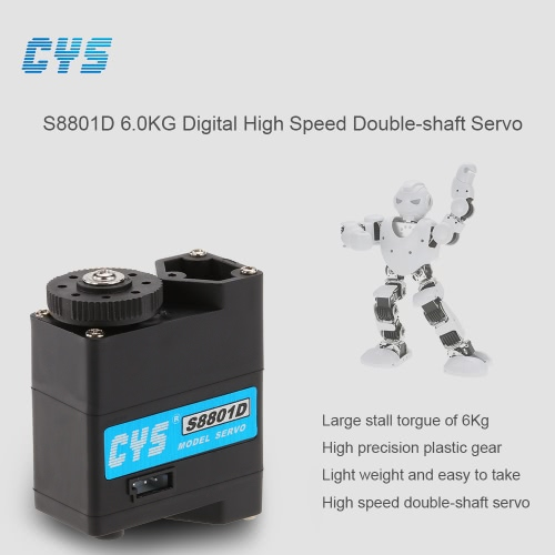 CYS S8801D 6kg/0.10sec Digital High speed Double-shaft Servo for RC Robot