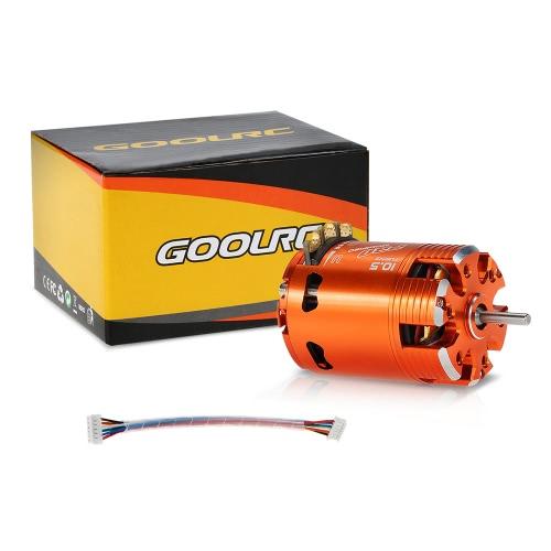 GoolRC 540 10.5T modificado 3450KV tiempo sin escobillas Sensored Motor ajustable