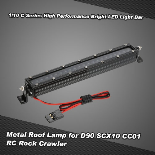 1/10 C Series High Performance Bright LED Light Bar Metal Roof Light Lamp for 1/10 HSP RC4WD Axial D90 SCX10 Traxxas TAMIYA CC01 RC Rock Crawler